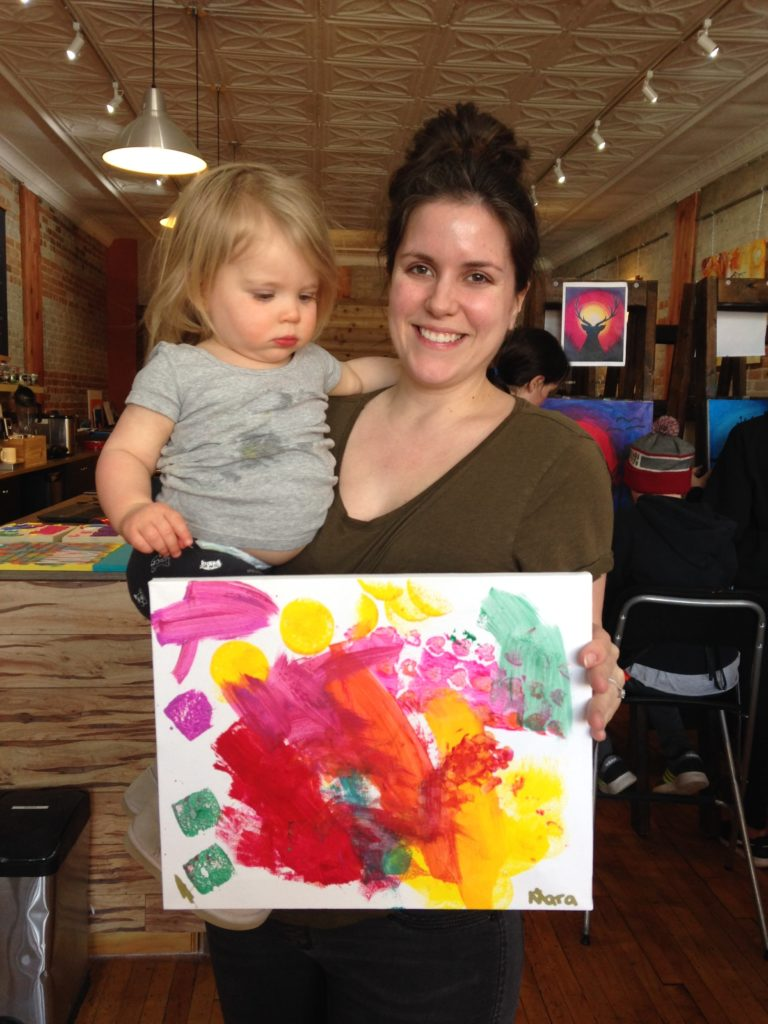 Mom and child at the studio